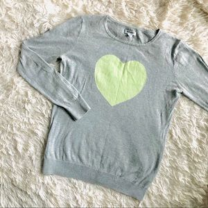 🛍BOGO Old Navy Heart Sweater Grey Green